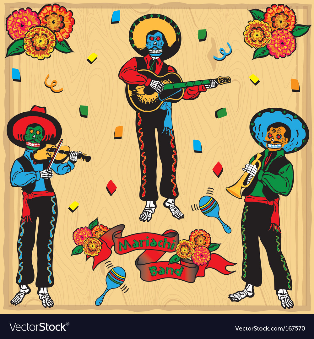 Mariachi band vector image