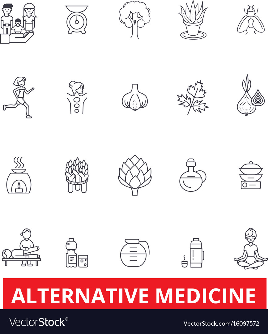 Alternative medicine healing therapy vector image