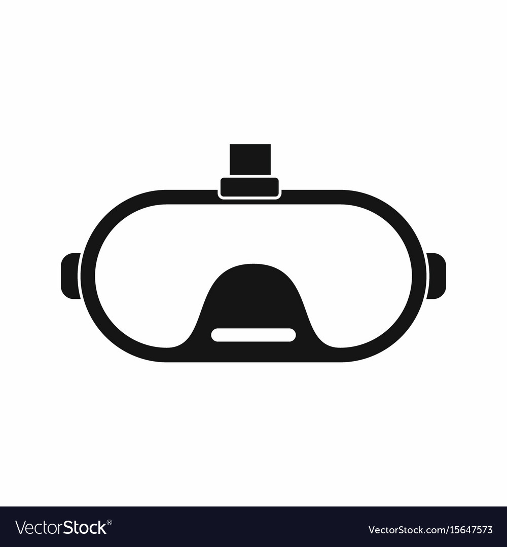 Virtual reality glasses in silhouette style vector image