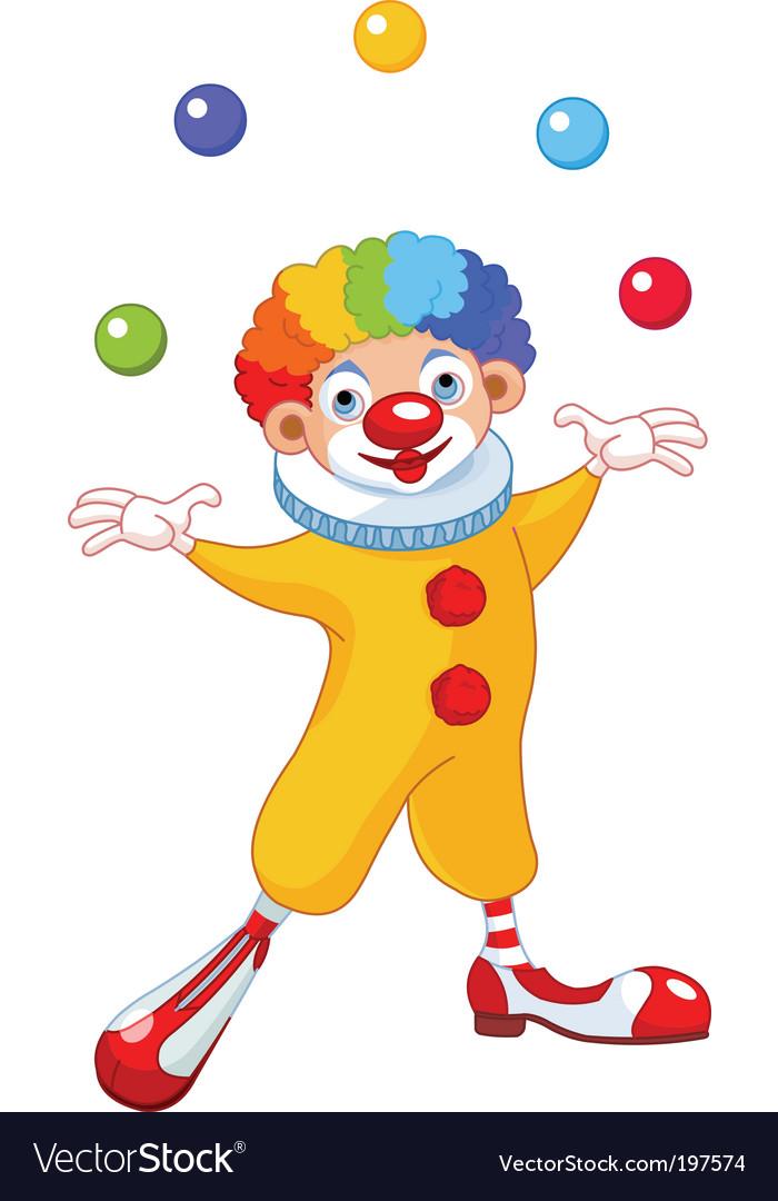 Juggling clown vector image