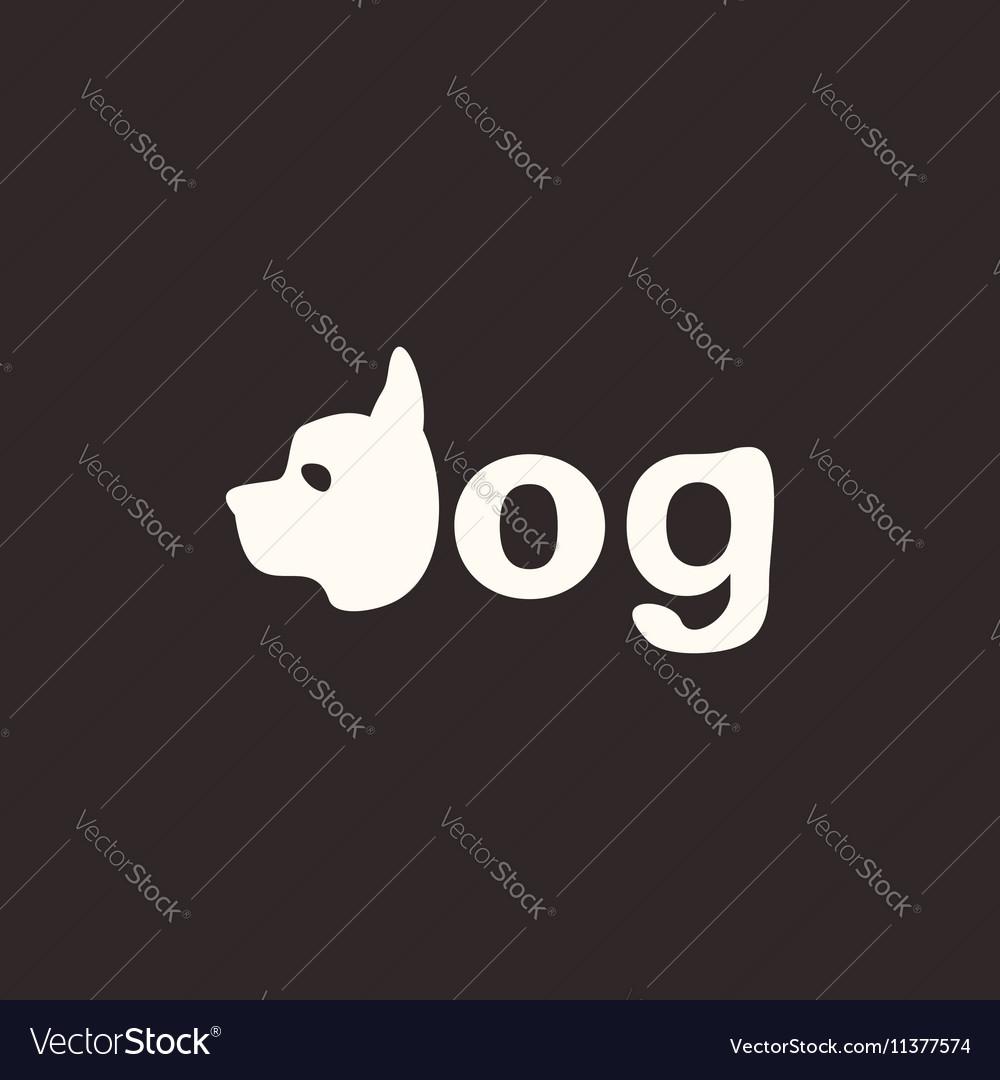 Logo dog vector image