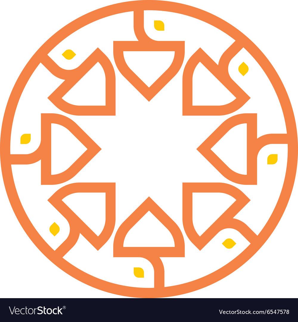 Logo abstract circle vector image