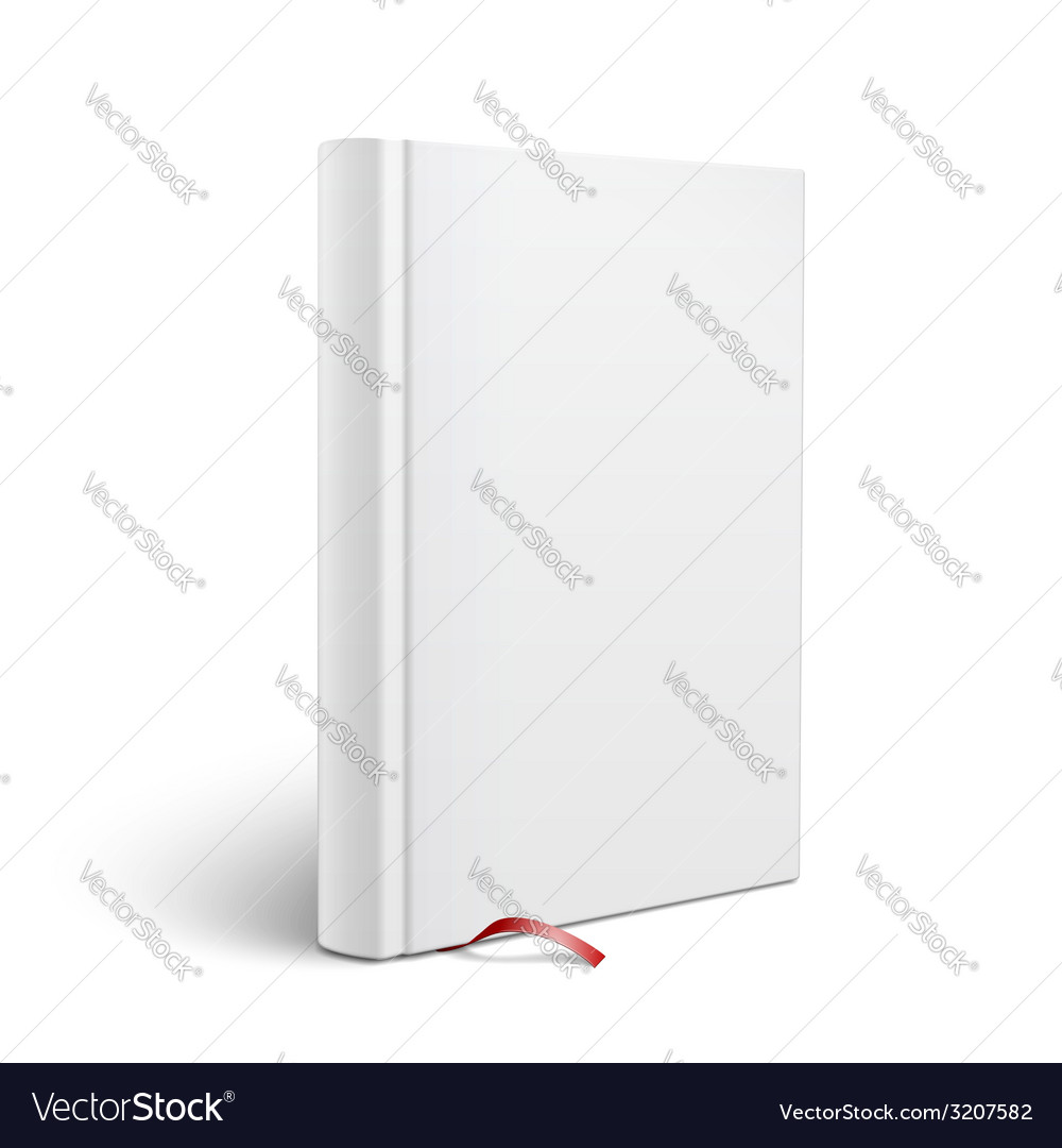 blank vertical book with bookmark template vector image