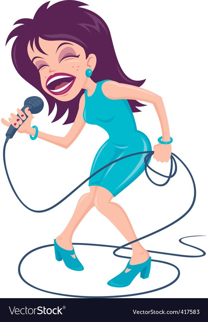 Female pop singer vector image