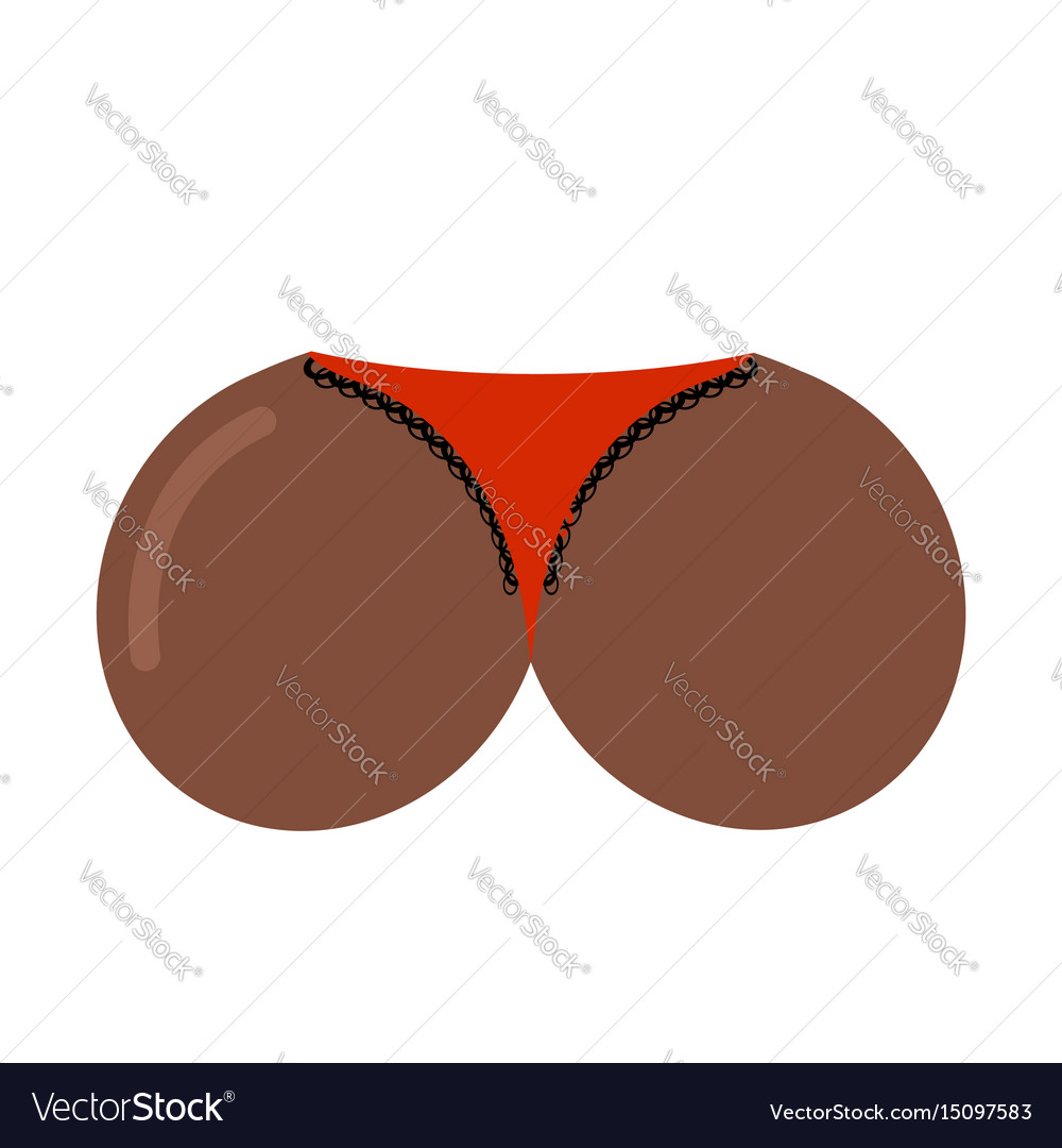 Butt african american womens buttocks isolated vector image
