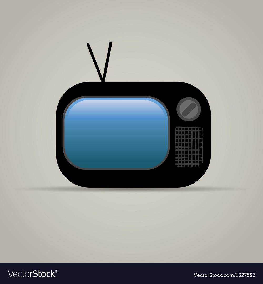Web icon of retro tv vector image