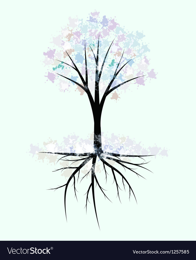 Winter tree vector image