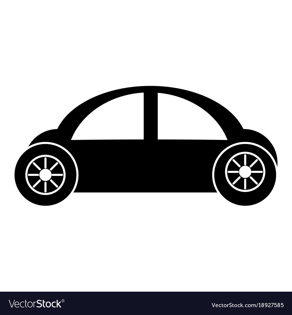 Modern car isolated icon Royalty Free Vector Image