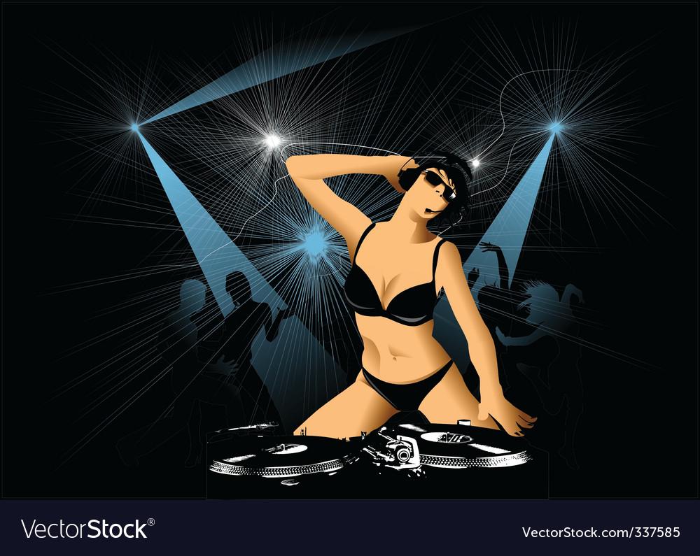 Night entertainment vector image