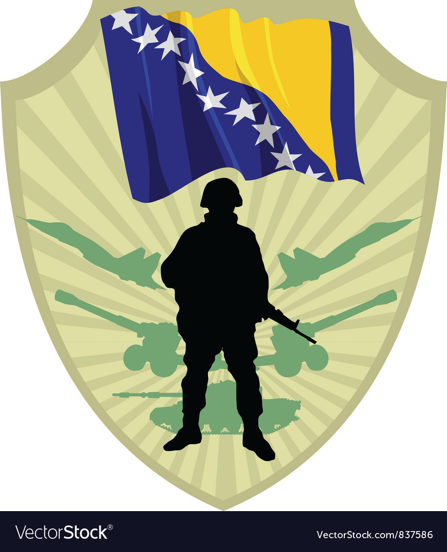 Army of Bosnia and Herzegovina vector image
