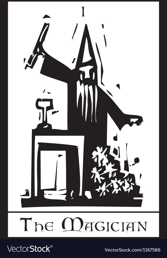 The Magician Tarot Card vector image