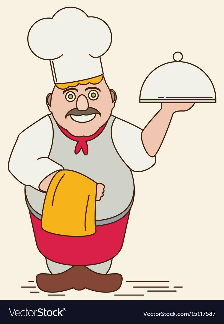 Cartoon chef flat vector image