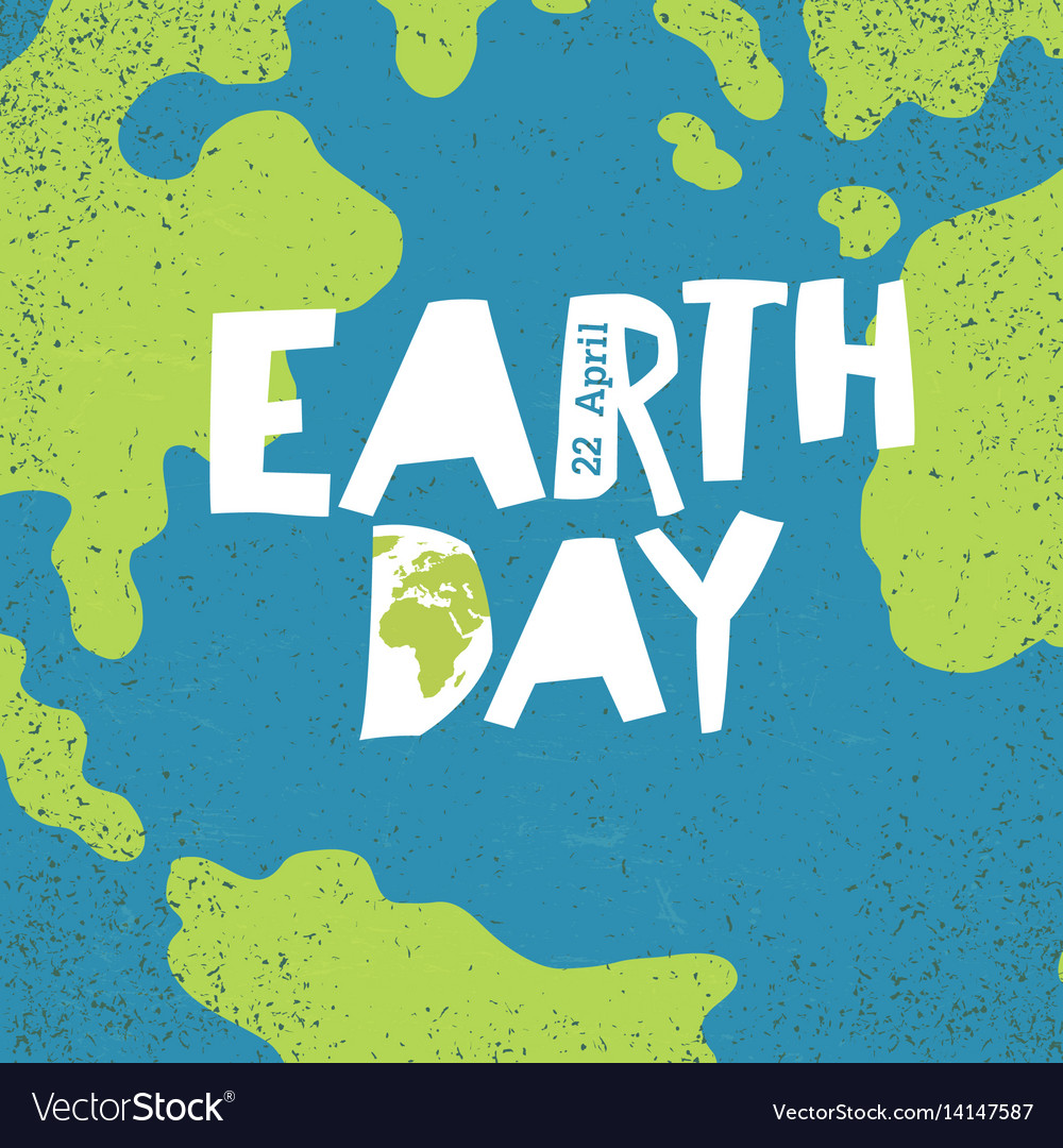 Earth day concept creative design poster for vector image
