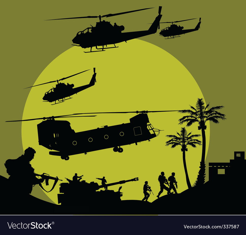 Military operation vector image