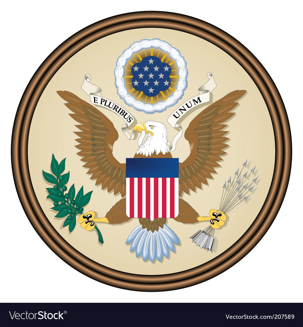 Usa seal Vector Image
