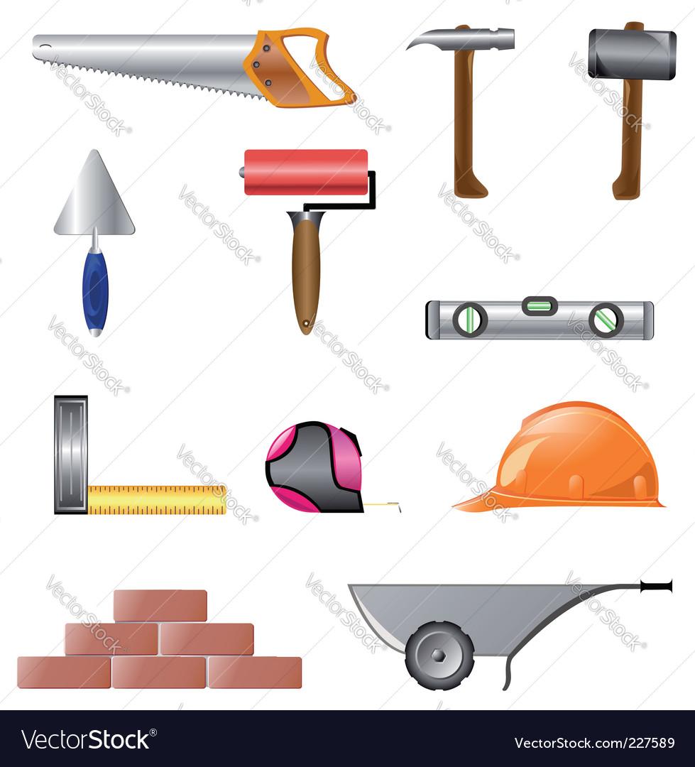 Building instruments vector image