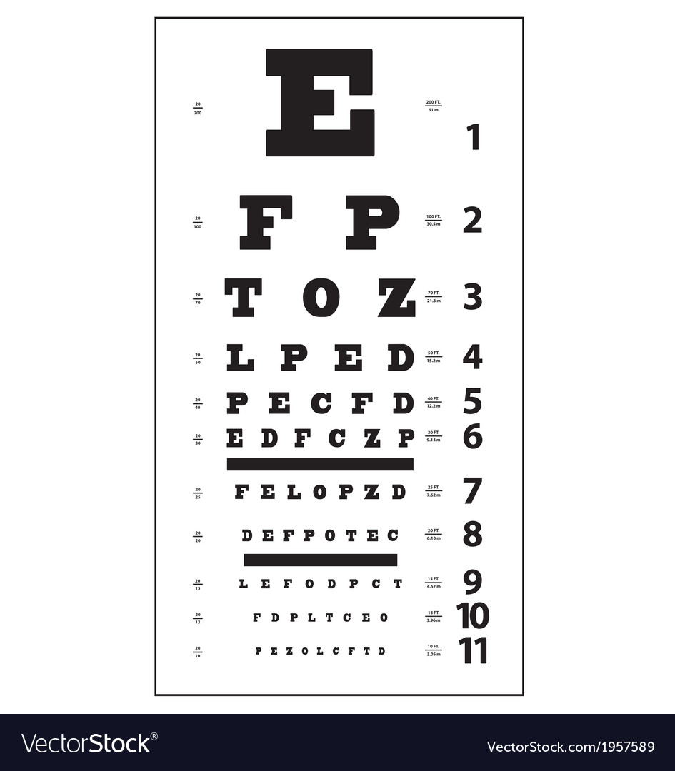 Eye test chart royalty free vector image vectorstock eye test chart vector image nvjuhfo Gallery