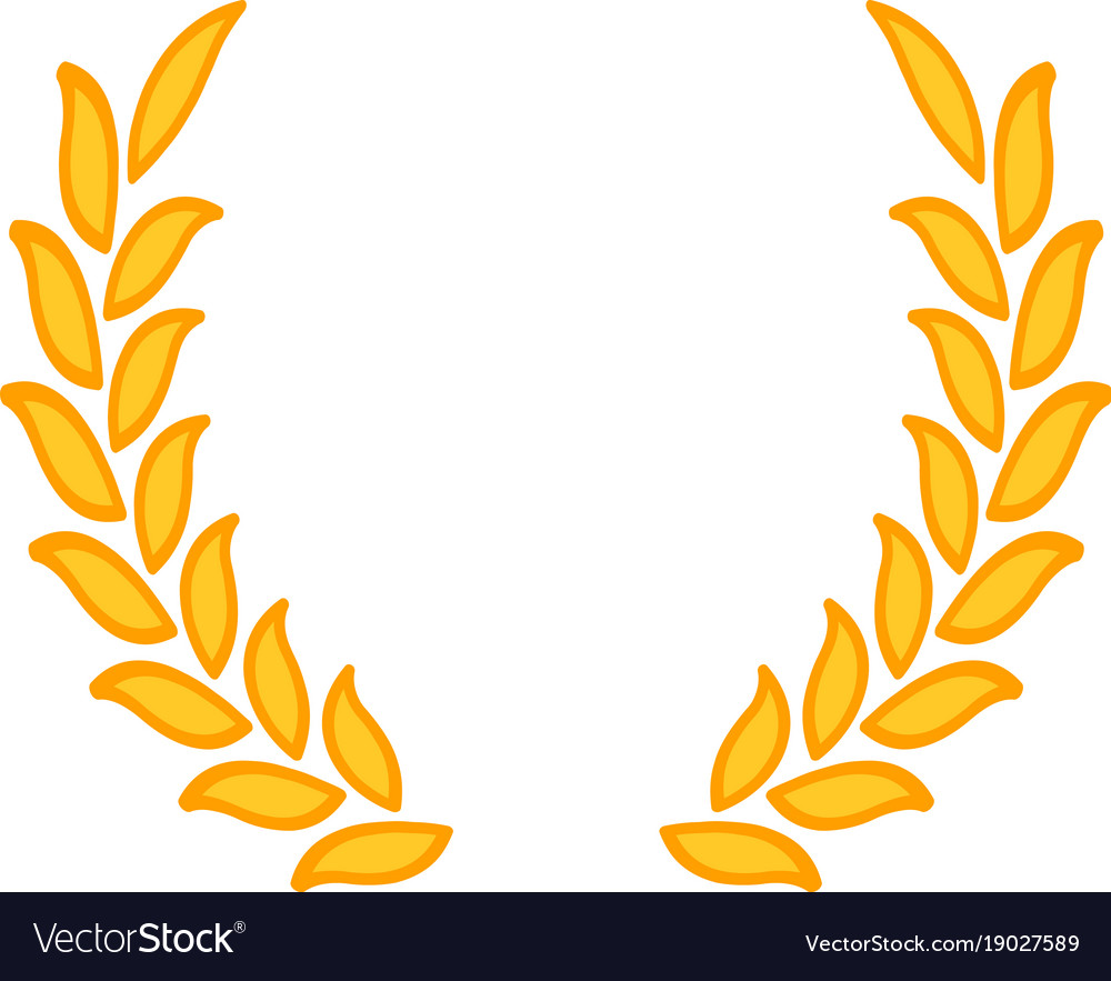 gold laurel wreath a symbol of the winner wheat vector image rh vectorstock com wheat vector logo wheat vector free download