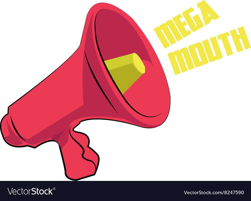 Mega Mouth vector image