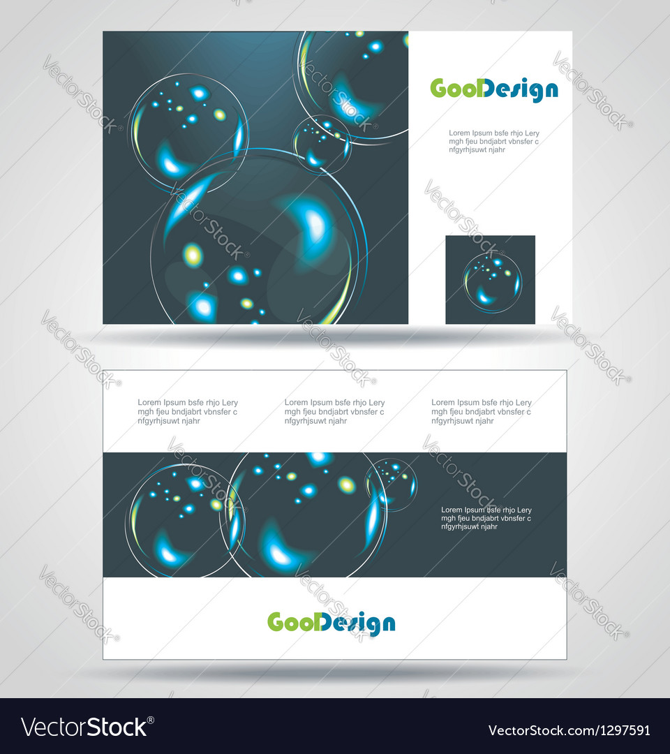 Blue Modern Business-Card Set EPS10 Design vector image