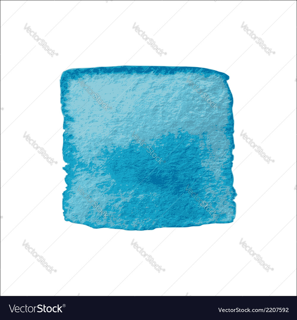 Blue Square Watercolor Banner vector image