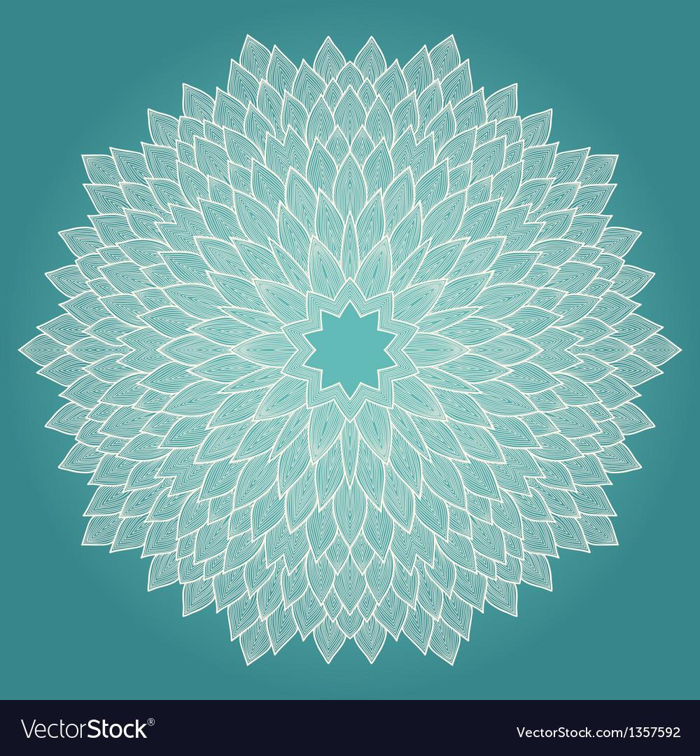 Mandala Beautiful hand drawn flower vector image
