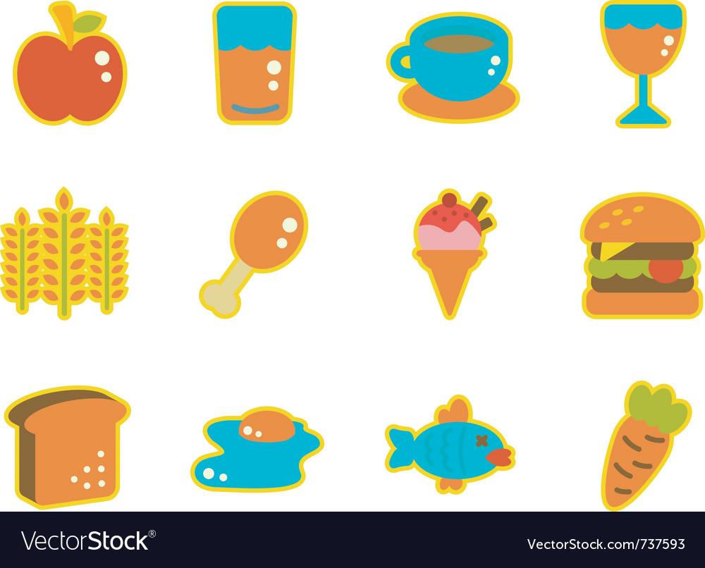 Cute icon food vector image