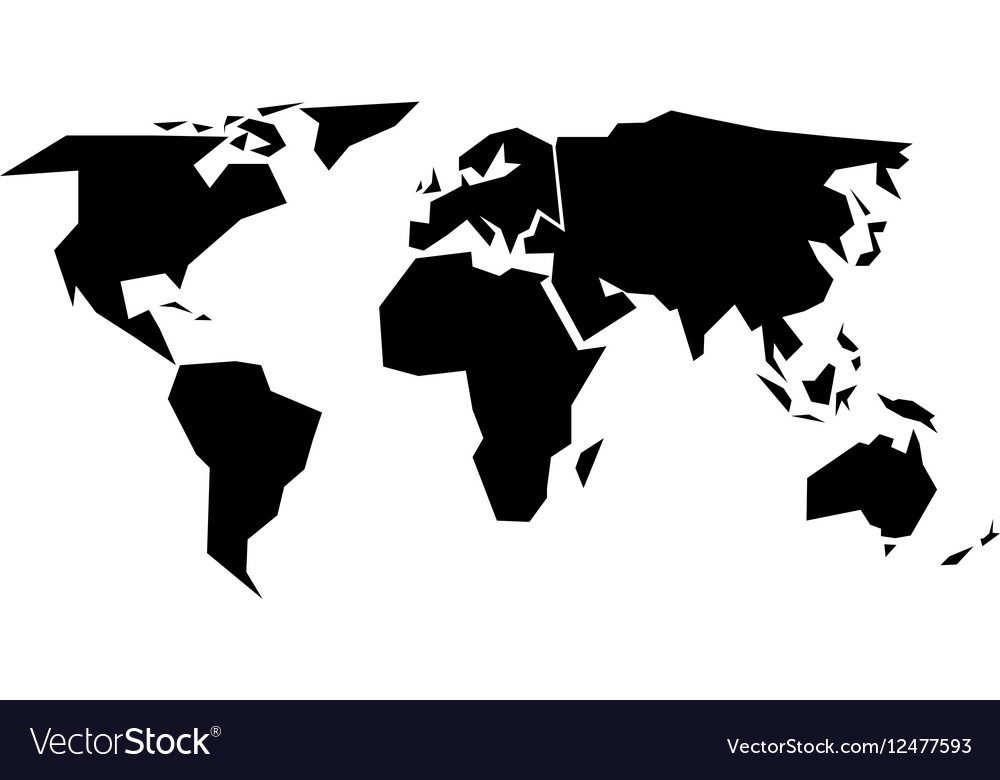 World map silhouette simplified black royalty free vector world map silhouette simplified black vector image gumiabroncs