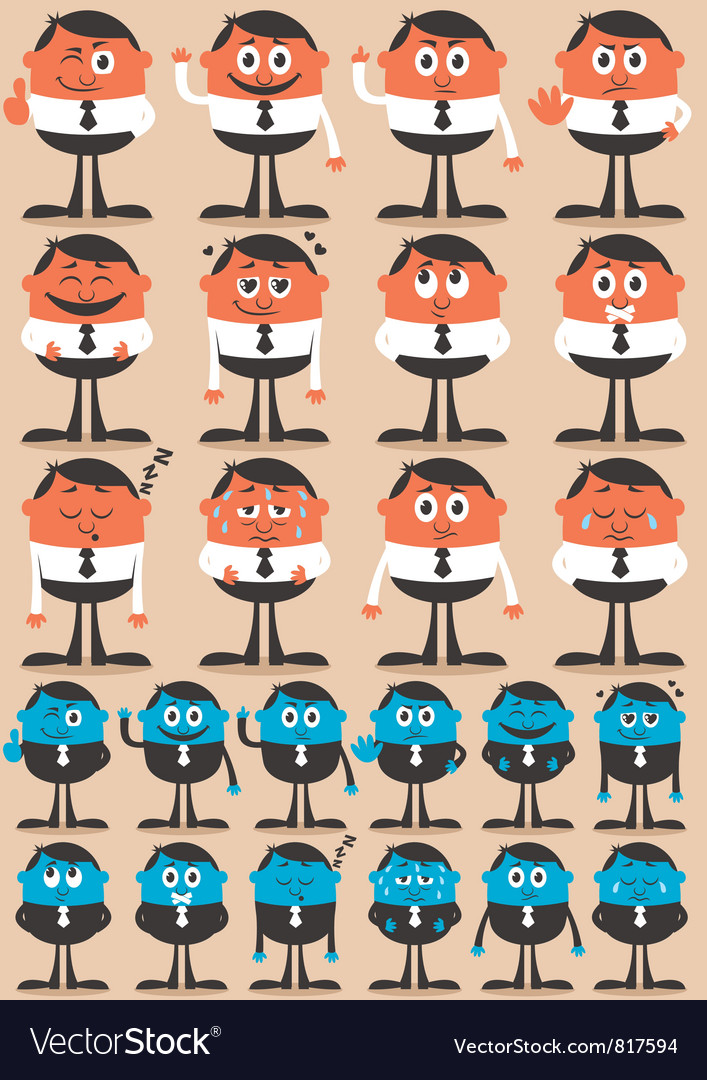 Character Emotions vector image