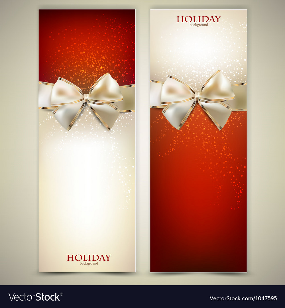 Elegant greeting cards Vector Image