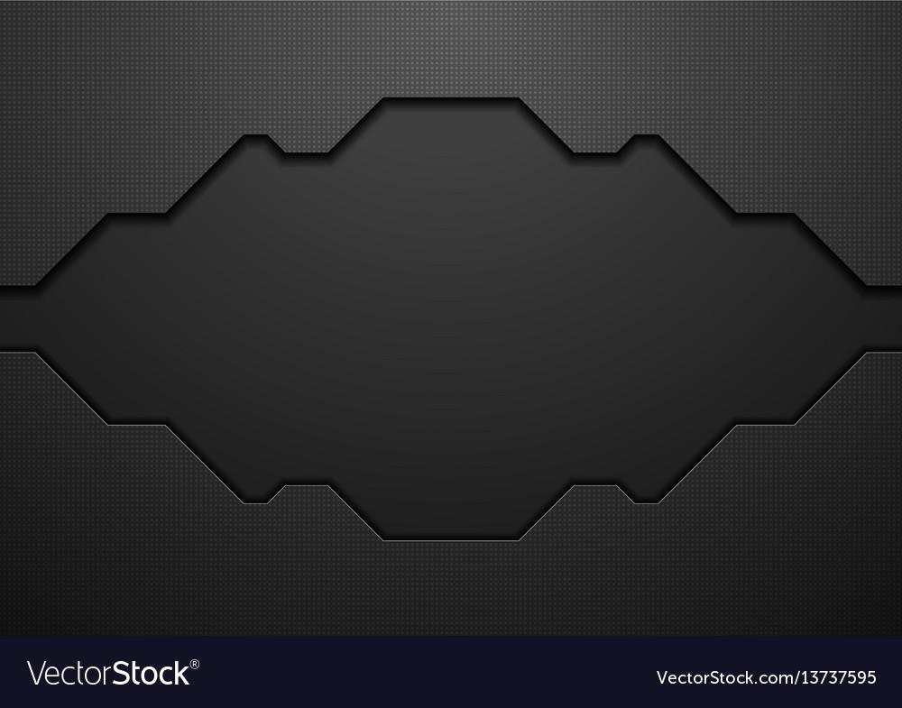 Black tech geometric concept background vector image
