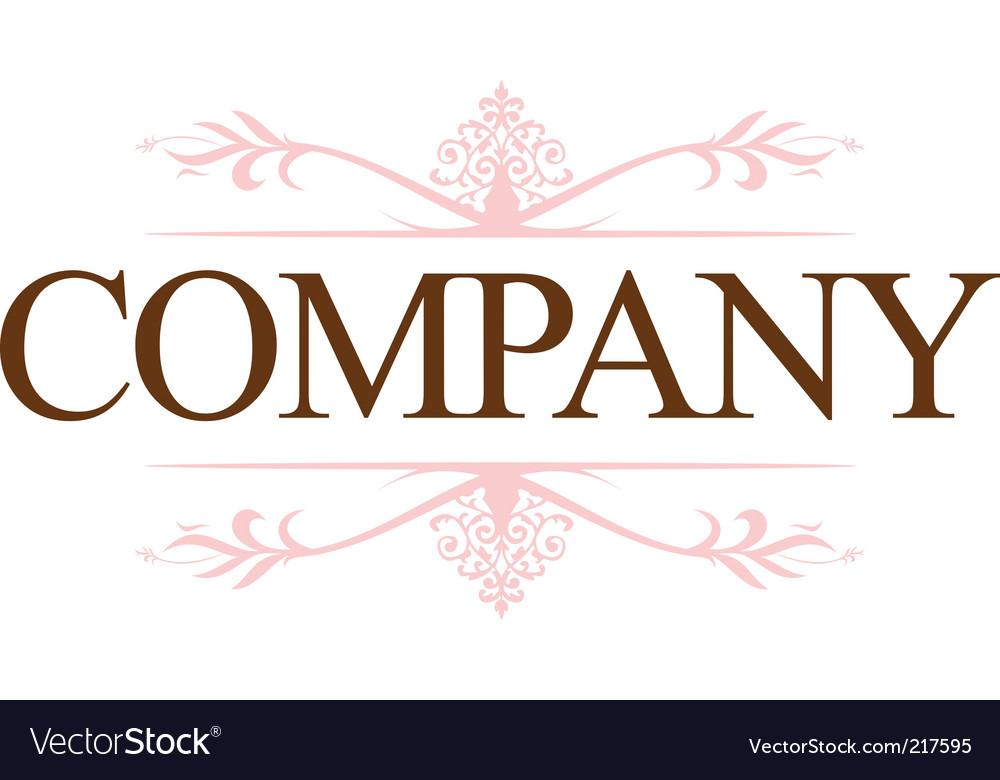 Vintage company logo vector image