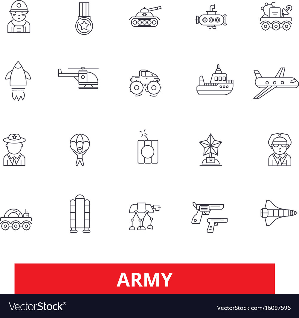 Army military soldier navy war marine vector image