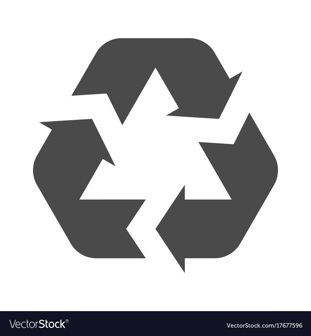 Recycle symbol isolated on a white background vector image buycottarizona Choice Image