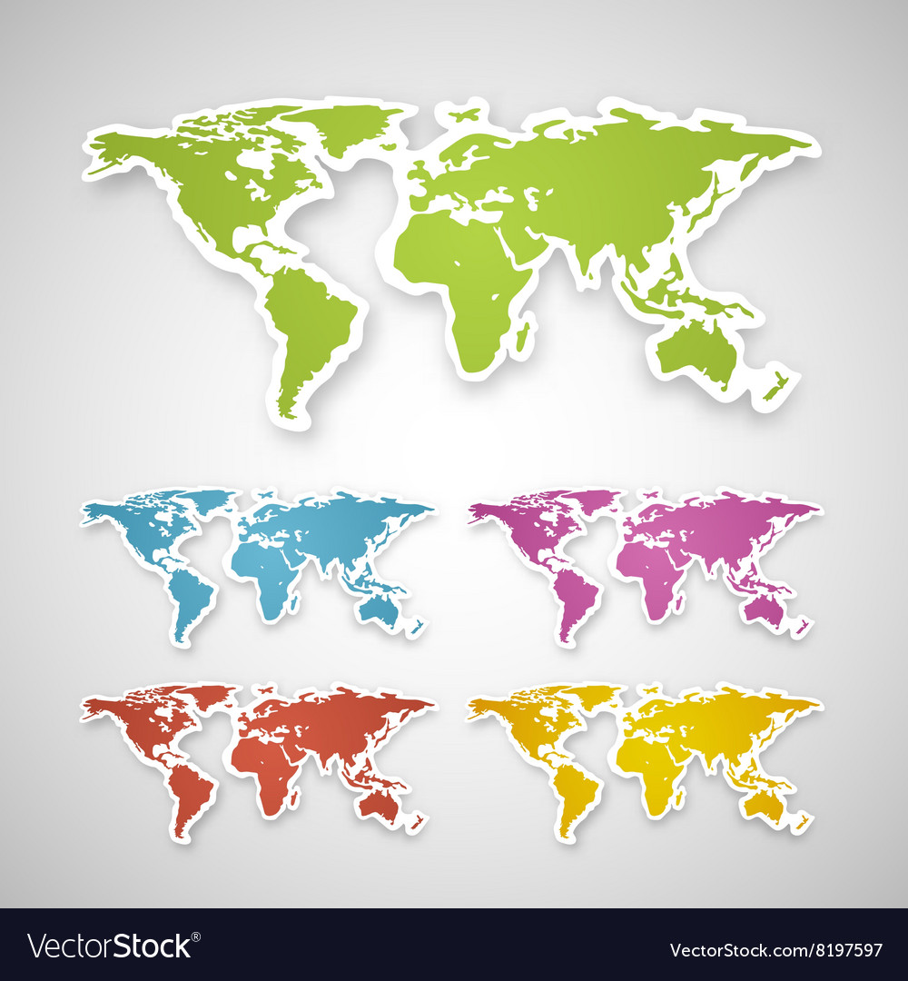 Colorful globe map sticker royalty free vector image colorful globe map sticker vector image gumiabroncs Images