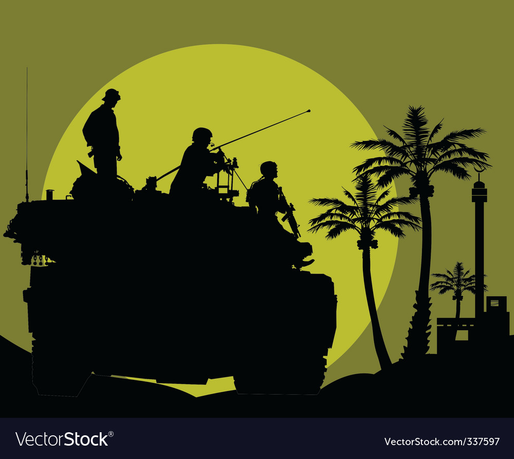 Desert night patrol vector image