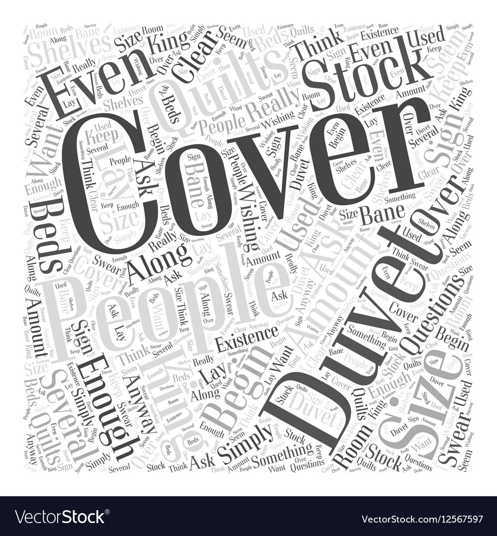 King size quilts Word Cloud Concept vector image