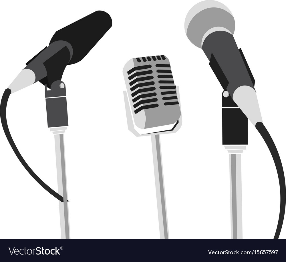 Press conference concept vector image