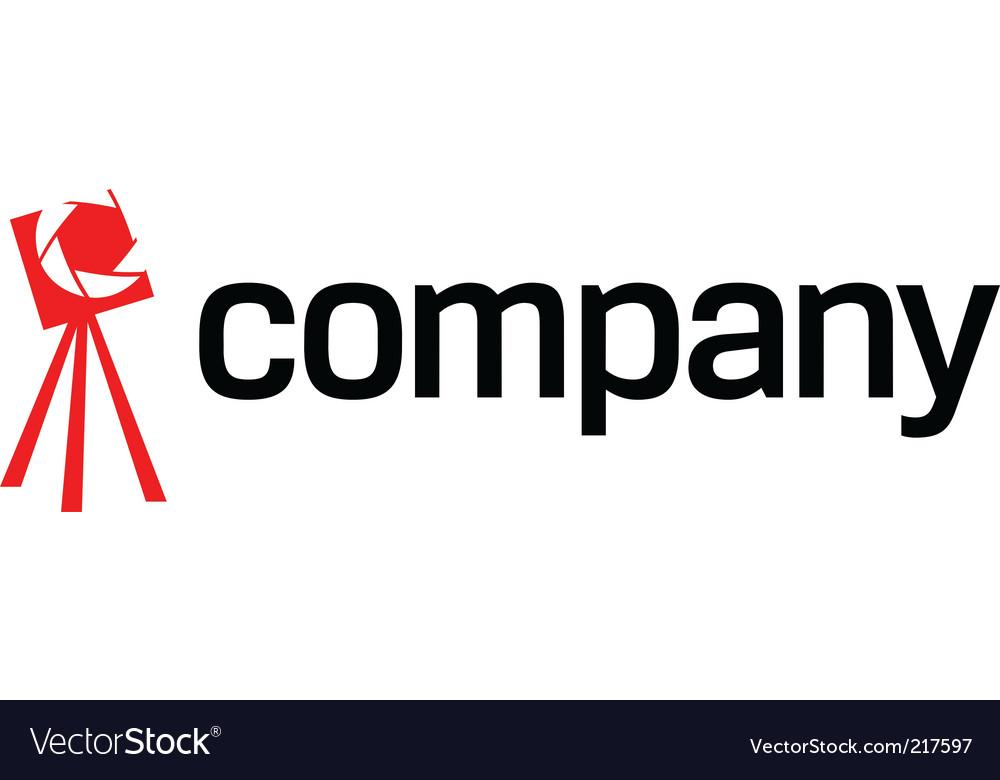 tripod camera logo royalty free vector image vectorstock