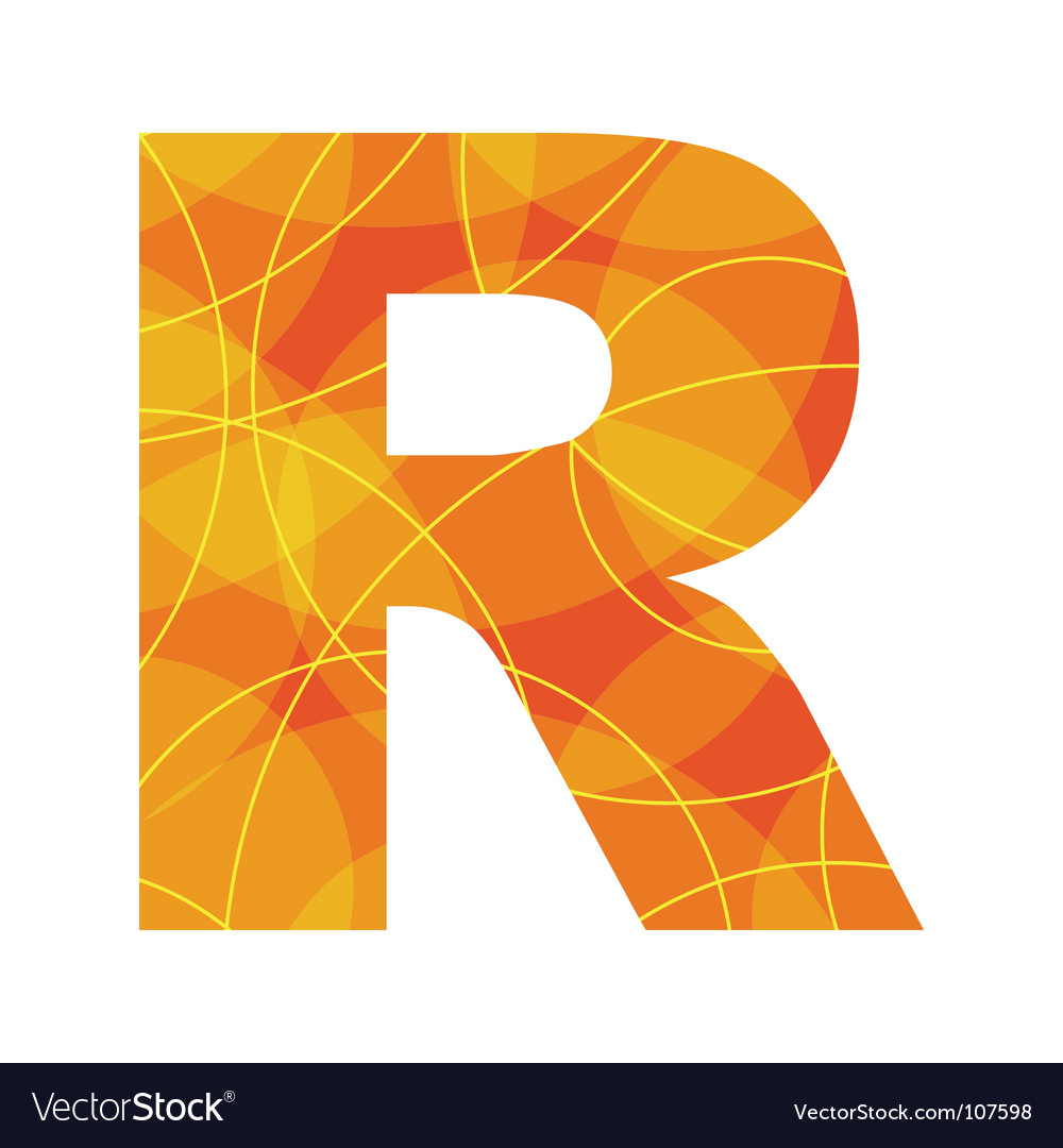 Abstract font letter R vector image
