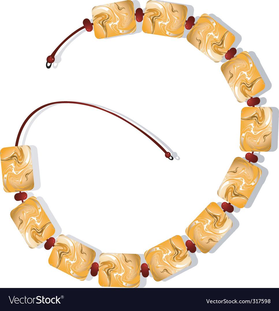 Elegant bracelet vector image