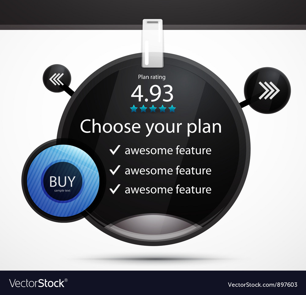 Black web box vector image