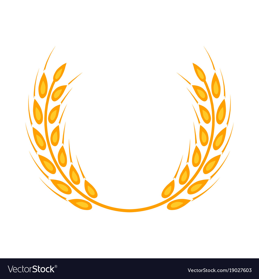 Gold laurel wreath a symbol of the winner wheat vector image buycottarizona Image collections