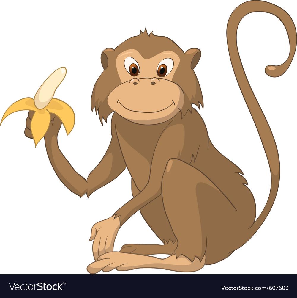 Monkey cartoon vector image