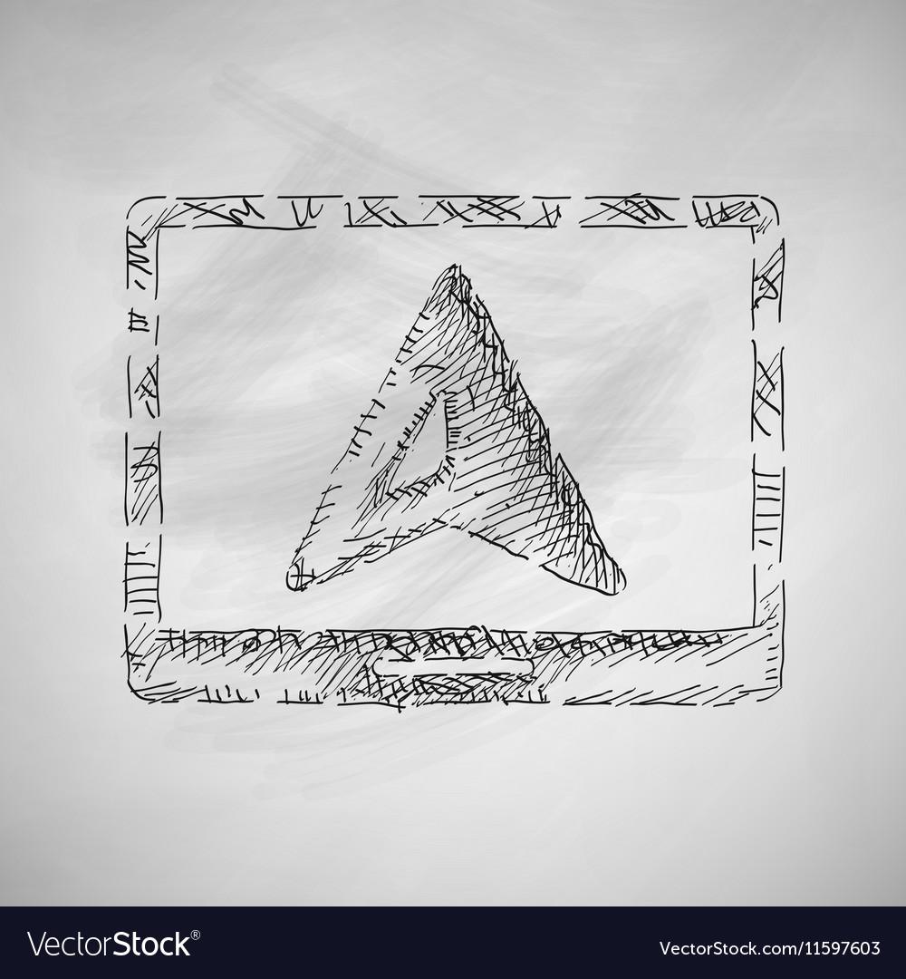 Pointer icon vector image
