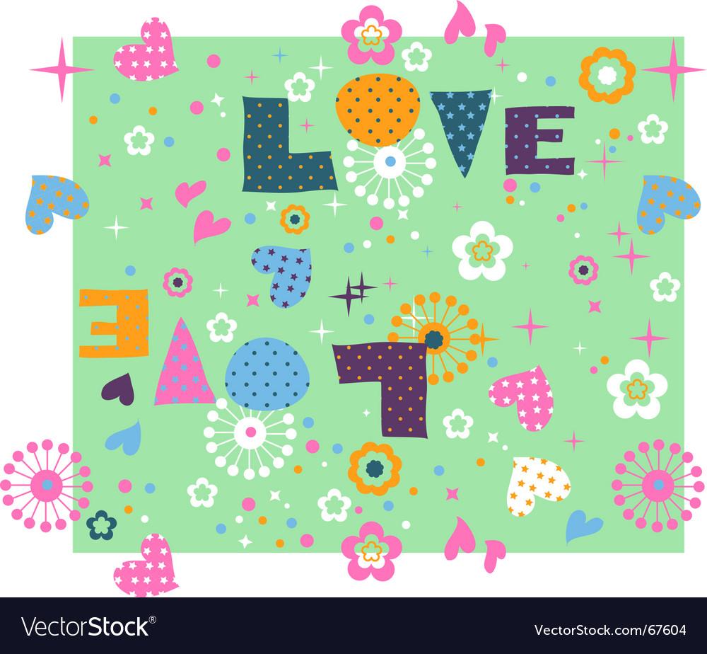 Cute seamless love vector image