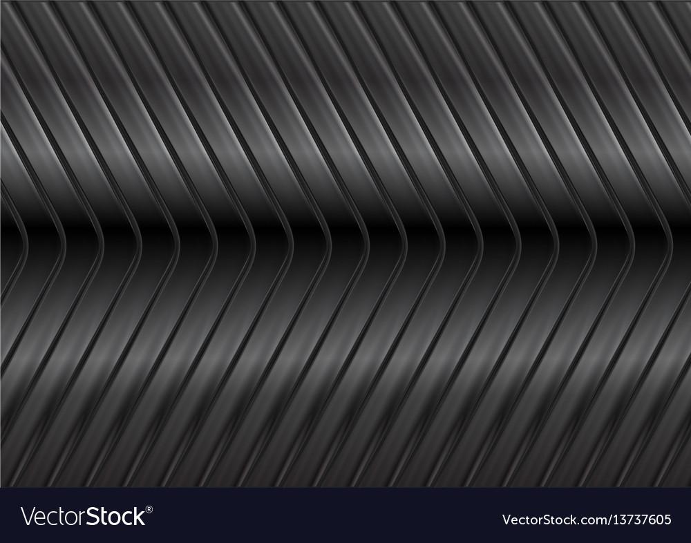 Black glossy metal arrows background vector image