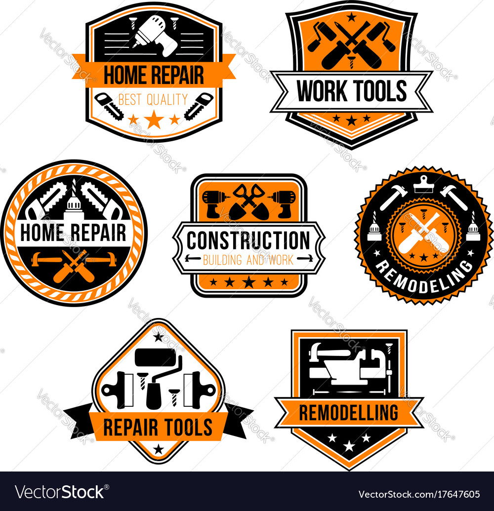 Work tools for home repair icons set vector image