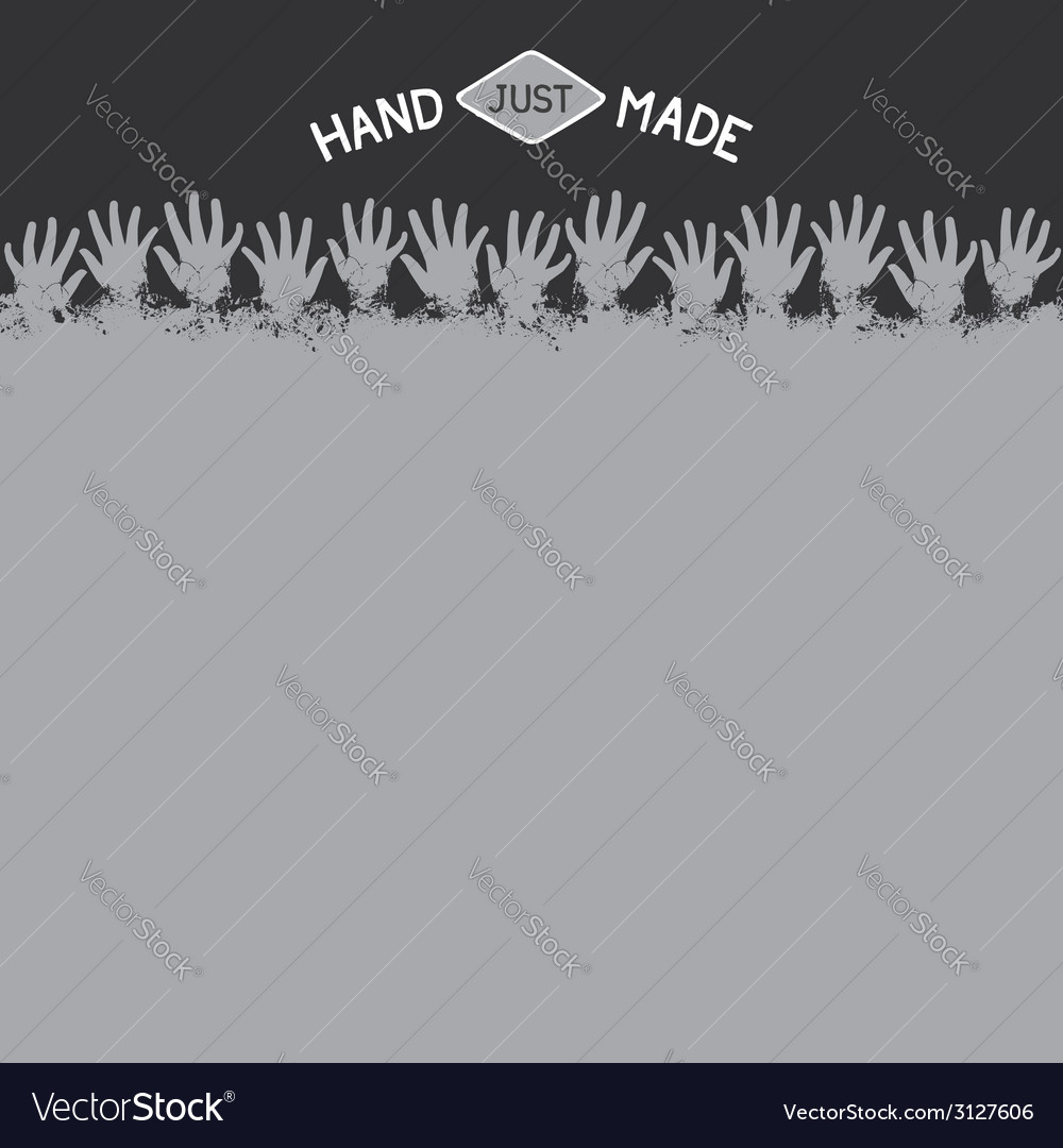 Background template for handmade vector image
