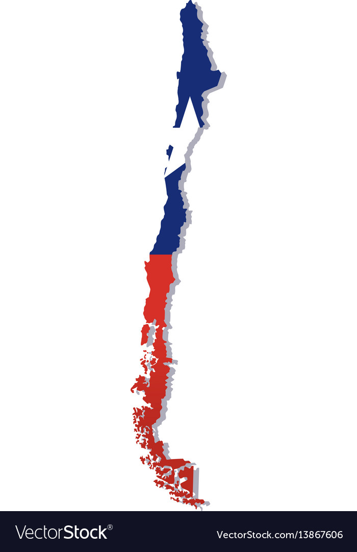 Chile flag amp map vector image